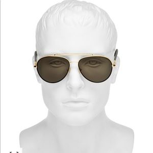 Curtis Polarized Brow Bar Aviator Sunglasses,59mm